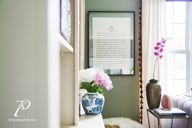 Home office designed by EM Interiors Chicago | Interior design photography by Kelly Peloza Photo