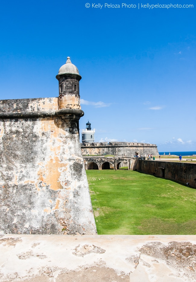 El Morro, Colorful Old San Juan Architecture by Kelly Peloza Photo, Chicago photographer